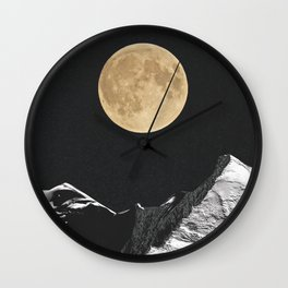 golden moon Wall Clock