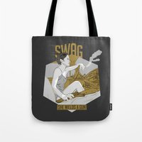 swag Tote Bags featuring SWAG by RJ Artworks