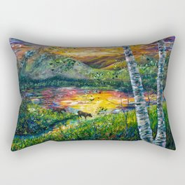 Sleeping Meadow - Colorado Moose Crossing by OLena Art Rectangular Pillow