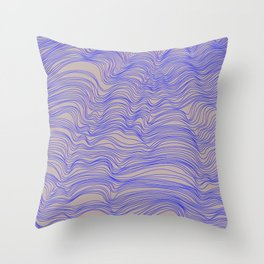 Gold Lined Throw Pillow