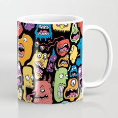 Monster Faces Pattern Coffee Mug