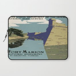 Vintage poster - Fort Marion Laptop Sleeve