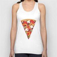 miles davis Tank Tops featuring PIZZA POWER - VEGO VERSION by Daisy Beatrice