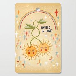 United in love Cutting Board