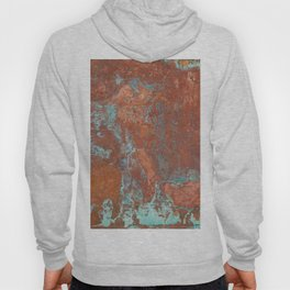 Tarnished Metal Copper Texture - Natural Marbling Industrial Art Hoody