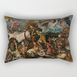 The Fall of the Rebel Angels Pieter Bruegel the Elder Rectangular Pillow