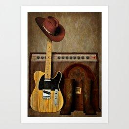 Country Guitar Art Print