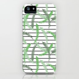 Stripes and Sprigs iPhone Case