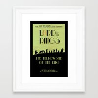 lotr Framed Art Prints featuring LOTR The Fellowship of the Ring Minimalist Poster by Sean Breeding Arthouse