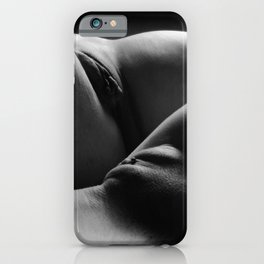 0876s-HB Explicit B&W Art Nude Two Women Intimate Close Up iPhone Case