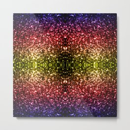 Beautiful rainbow yellow red purple sparkles Metal Print