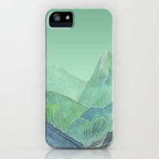 Lines in the mountains - green Slim Case iPhone SE