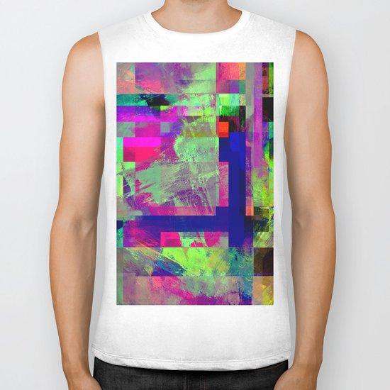 Pastel Geometry X - Abstract, goemetric, pastel coloured, textured artwork Biker Tank