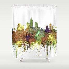 Honolulu, Hawaii SG - Safari Buff Shower Curtain