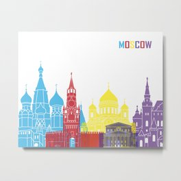 Moscow skyline pop Metal Print