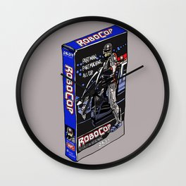 Robocop on VHS Wall Clock