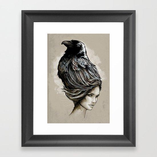 Raven Haired Framed Art Print