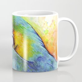 Bird Watercolor Animal Macaw Coffee Mug