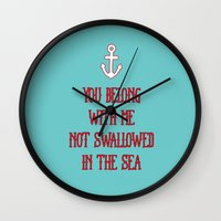 coldplay Wall Clocks featuring You Belong With Me by larlener