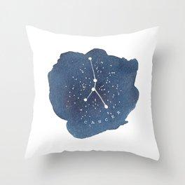 cancer constellation zodiac Throw Pillow