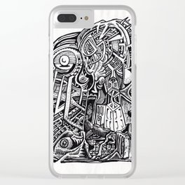 Psycho Warrior, by Brian Benson Clear iPhone Case