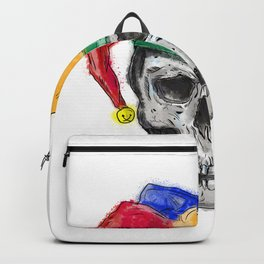 Jester Skull Laughing Tattoo Backpack