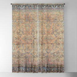 Kashan Floral Persian Carpet Print Blackout Curtain