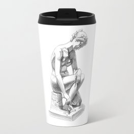 Girl with snail, Musee de Picardie. Travel Mug