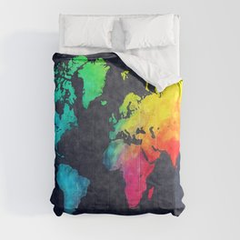 World map watercolor 6 Comforters