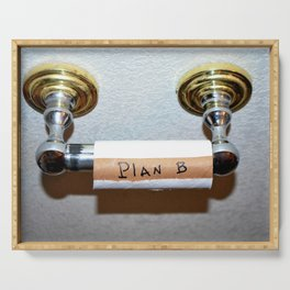 Toilet paper plan B. Serving Tray