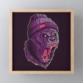 Screaming Gorilla Framed Mini Art Print