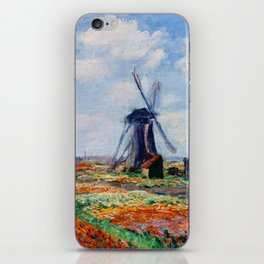 Claude Monet Tulip Field In Holland iPhone Skin