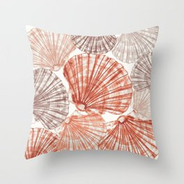 Fossils Sea Shells: Natural  Throw Pillow