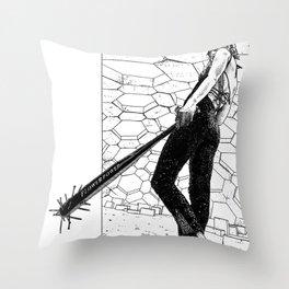 asc 342 - La fleur sauvage (Do you feel the beat now ?) Throw Pillow