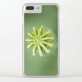 Hungarian Blue Bread Seed Poppy | Seed Pod Clear iPhone Case