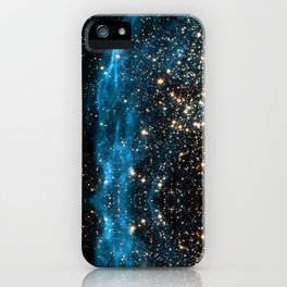 Blue Aurora Galaxy Star Field iPhone Case