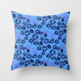 Flannel Flower Fields Throw Pillow