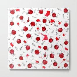 Little Ladybird | Inkies Pattern Collection Metal Print