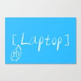 mylaptop Canvas Print