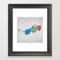 3D Glasses Framed Art Print