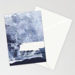 Square blue abstract Stationery Cards