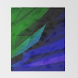Geo Green and Blue Throw Blanket
