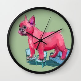 animals in chairs # 23 French Bull Dog Wall Clock