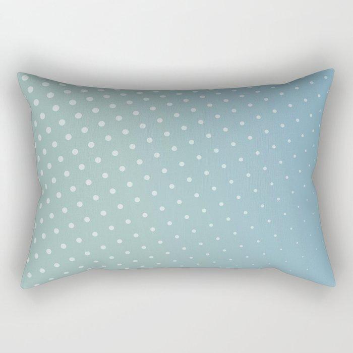 Cool blue dots Rectangular Pillow
