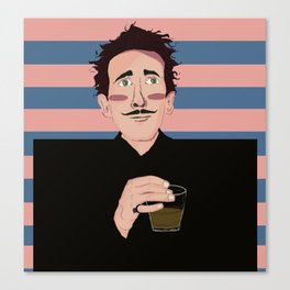 Adrien Brody as Dimtri - Wes Anderson Canvas Print
