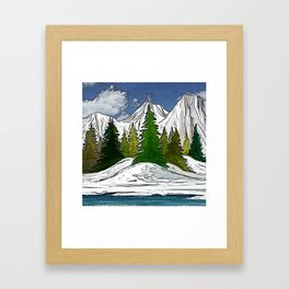 Trees in the mountains Framed Art Print