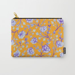 Watercolor Peonies - Sapphire Marigold Carry-All Pouch