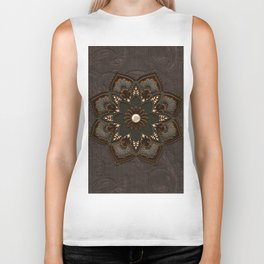 Steampunk, beautiful mandala Biker Tank