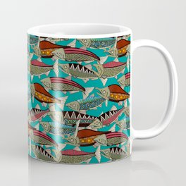 Alaskan salmon teal Coffee Mug