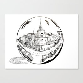 City in a glass ball . Home decor, Art prints Canvas Print